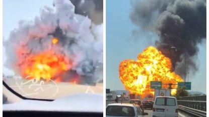 VIDEO. Tankwagen ontploft op Italiaanse snelweg: zeker 1 dode en 67 gewonden