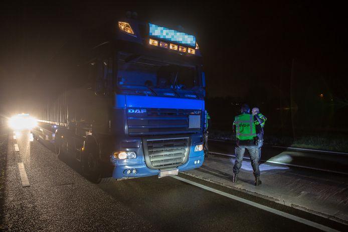 Trucker aangehouden na dronkemansrit door Brabant