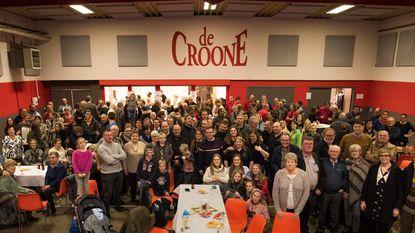 Massa volk voor nieuwjaarsreceptie in De Croone