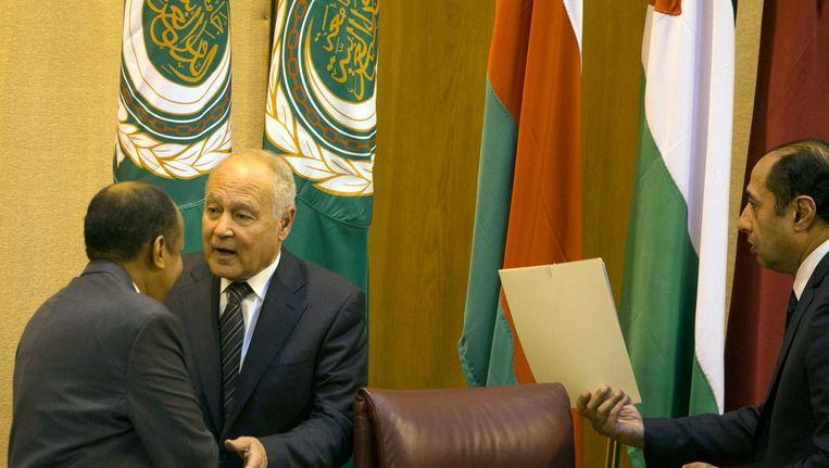 De secretaris-generaal van de Arabische Liga, Ahmed Aboul-Gheit Beeld afp