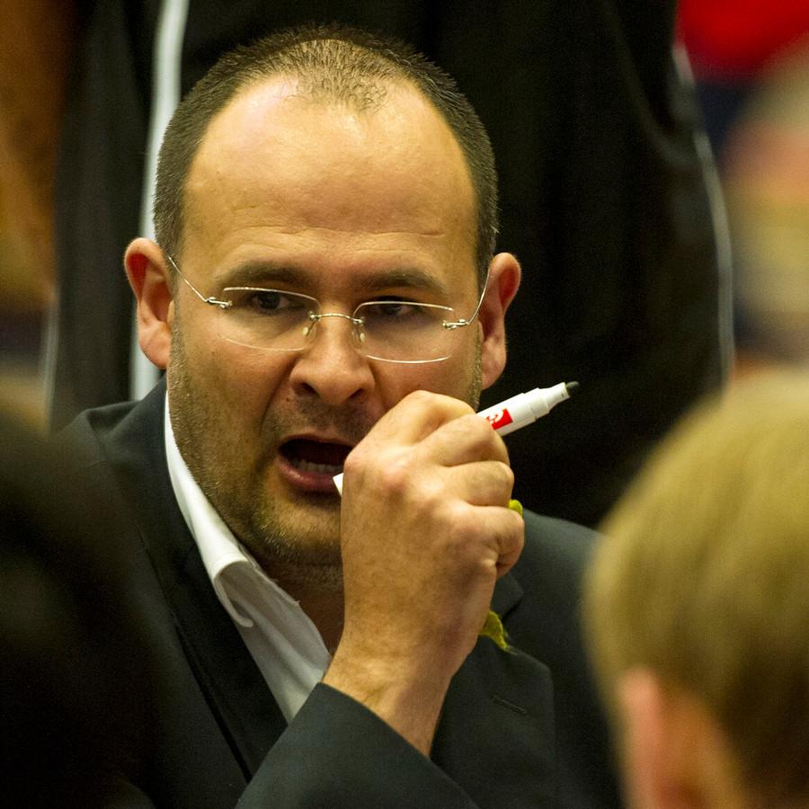 Ivica Skelin in zijn tijd als coach van Groningen.