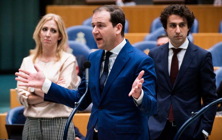 Lilian Marijnissen (SP), Lodewijk Asscher (PvdA) en Jesse Klaver (GroenLinks). Beeld Freek van den Bergh / de Volkskrant