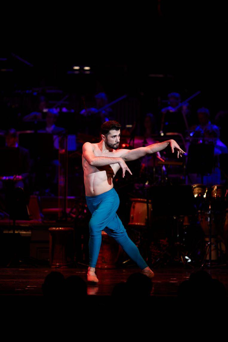 De Syrische danser Ahmad Joudeh.  Beeld Milagro Elstak