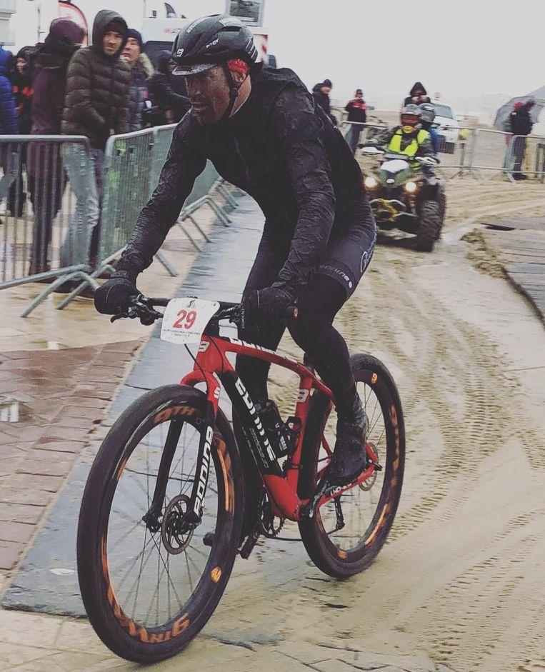 Klaas Vantornout tijdens de mountainbikewedstrijd