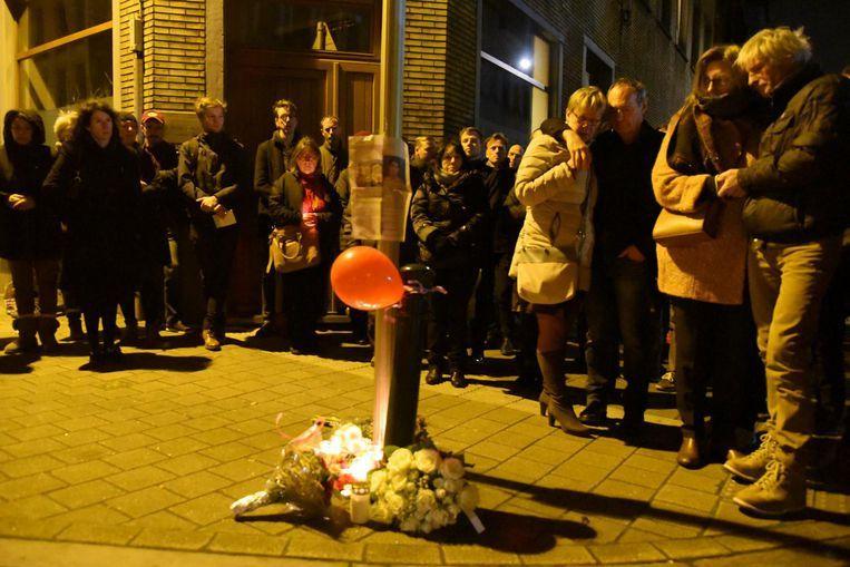 Buurtbewoners hielden een wake voor de omgekomen journaliste