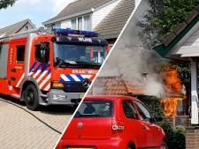 Brandweer rukt uit voor in brand gevlogen tuinhuis  Boerhaar