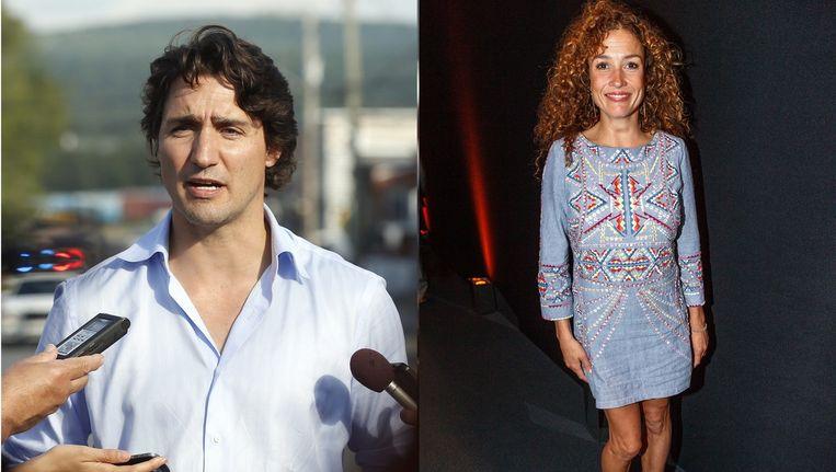 Justin Trudeau en Katja Schuurman krijgen ongevraagd stijladvies. Beeld Stephen Morrison / Edwin Janssen