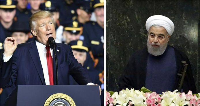 Donald Trump et son homologue iranien Hassan Rohani
