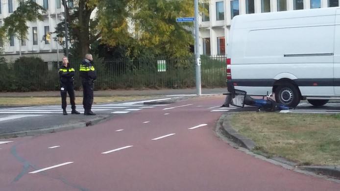 De rotonde in Den Bosch waar vaker ongelukken gebeuren.