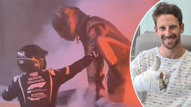 """Ian Roberts, een van de helden die Grosjean uit vlammenzee sleurde: """"Zijn vizier was helemaal gesmolten"""""""