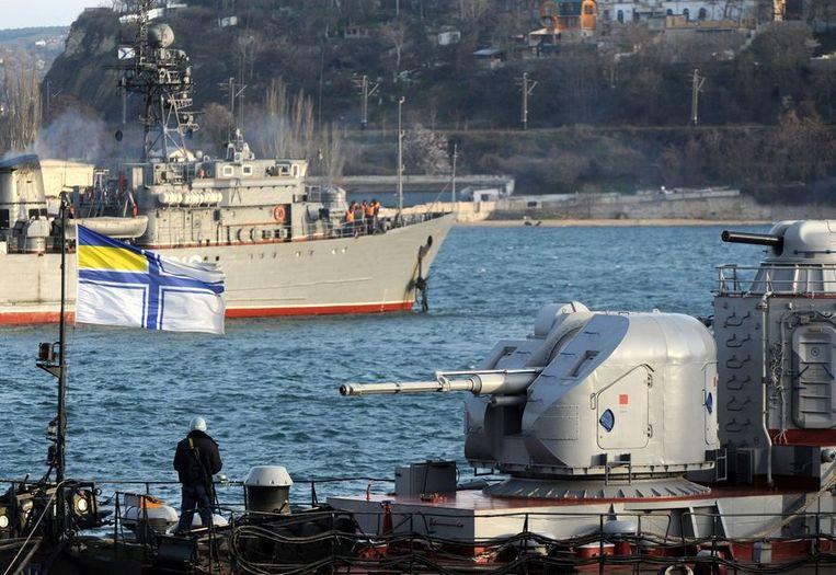 Oekraïens marineschip in wateren bij de Krim Beeld EPA