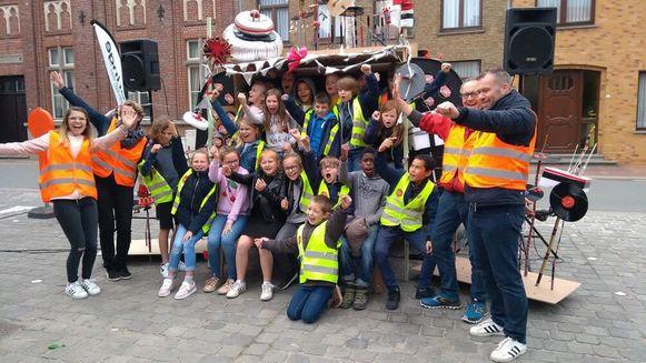 De leerlingen van VBS De Krekel maakten hun eigen radioprogramma tijdens Radio Copain.