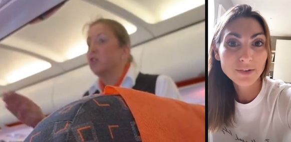 Links: de stewardess. Rechts: Zissman.