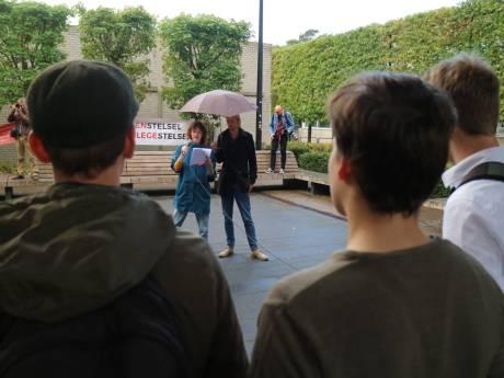 Tamme bedoening bij studentenprotest Nijmegen