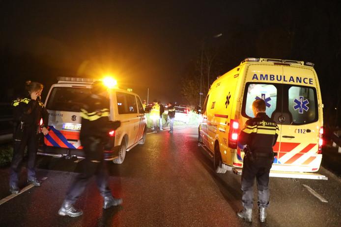 Politie en ambulance was ter plaatse op de A59 bij Waspik.