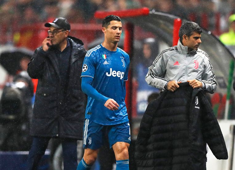Sarri en Ronaldo.