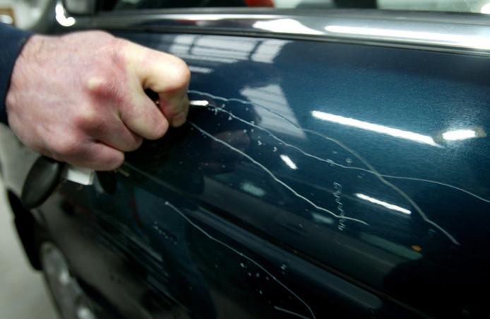 Foto ter illustratie. Het aantal gevallen van autovandalisme is vorig jaar weer gestegen, na enkele jaren van dalingen in het aantal aangiften.