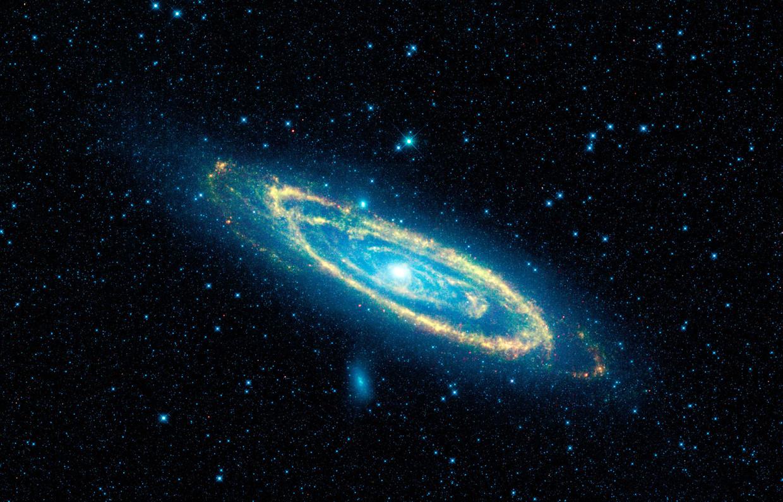 Het sterrenstelsel Andromeda waarin de ster ligt.