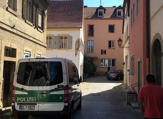 Politie in Ochsenfurt.