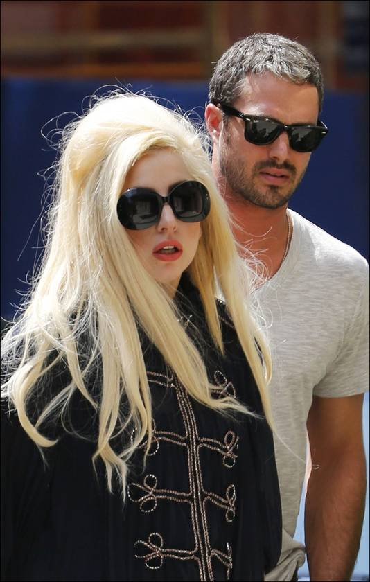 Lady Gaga en haar liefje Taylor Kinney in New York City.