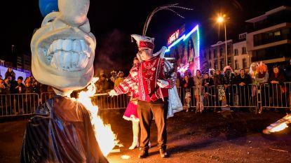 Geen carnavalsstoet, maar wel popverbranding