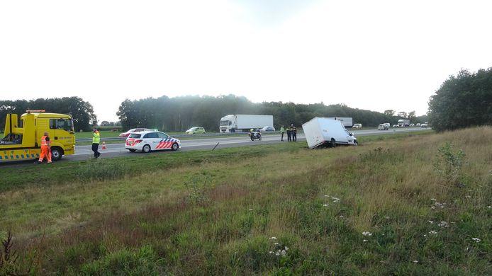 Ongeval op de A28 in de buurt van De Wijk.