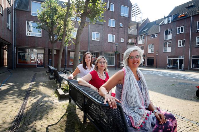 De organisatie van het Lekker Leven Event Cisca den Boer, Liesbeth Dokman en Janneke van den Berg (vlnr).
