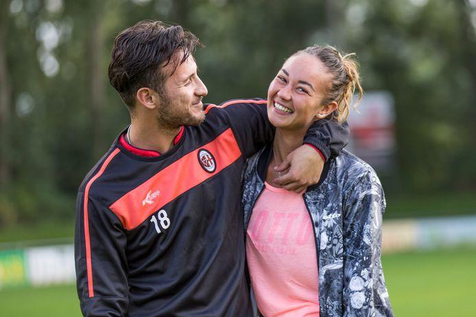 Tennisster Lesley Kerkhove en voetballer Edinho Pattinama.