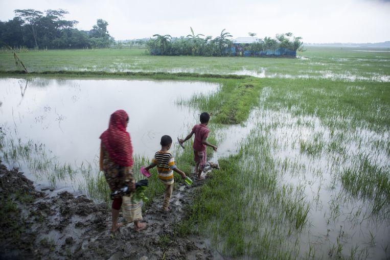Een boerengezin bij Patuakhali, Bangladesh. Beeld Mike Roelofs