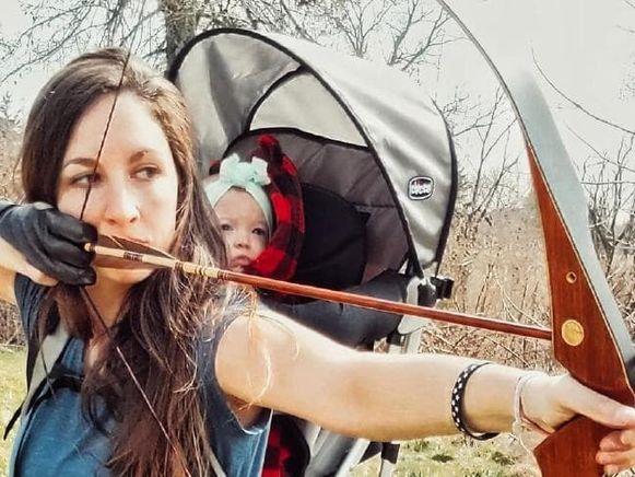 Rebekah Stephens en haar dochtertje.