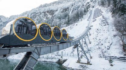 Zwitsers bouwen steilste spoorbaan ter wereld