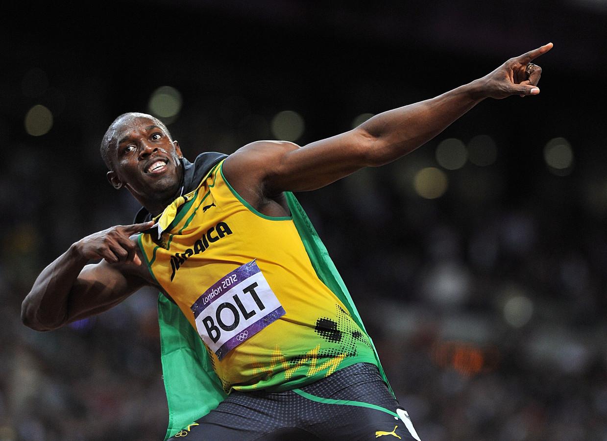 Bolt op de Olympische Spelen van 2012 in Londen.