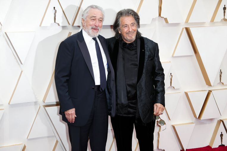 Robert De Niro en Al Pacino op de rode loper.