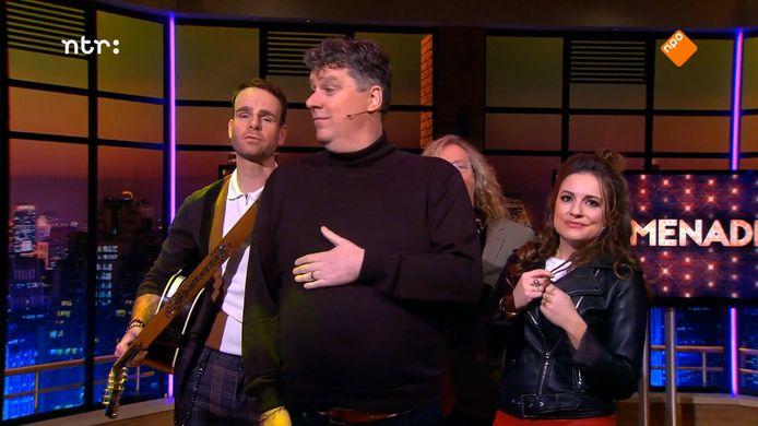 Diederik Ebbinge (voorop), Henry van Loon (links), Eva Crutzen (rechts) en Ton Kas (op de achtergrond).
