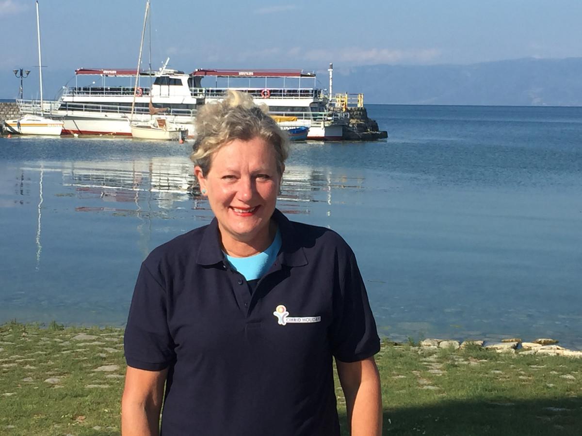 Ilse Lucassen in Noord-Macedonië, waar ze als reisleidster werkt.