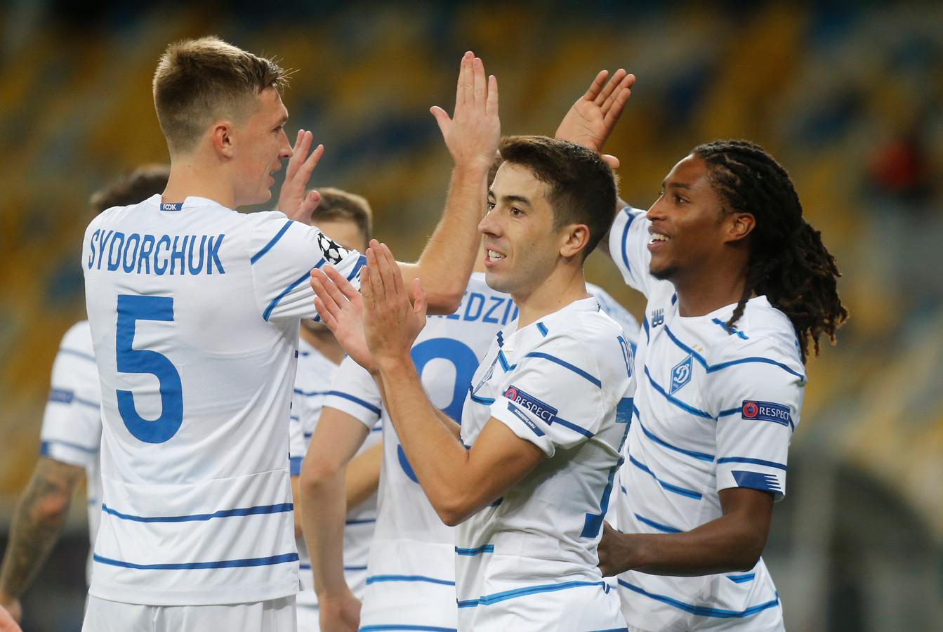 Gerson Rodrigues (rechts) scoorde uit een strafschop voor Dinamo Kiev.