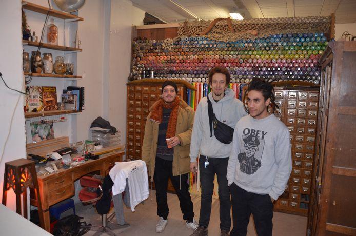 Louie, Pieter en Enzo van recuperatiewinkel Scrap store.