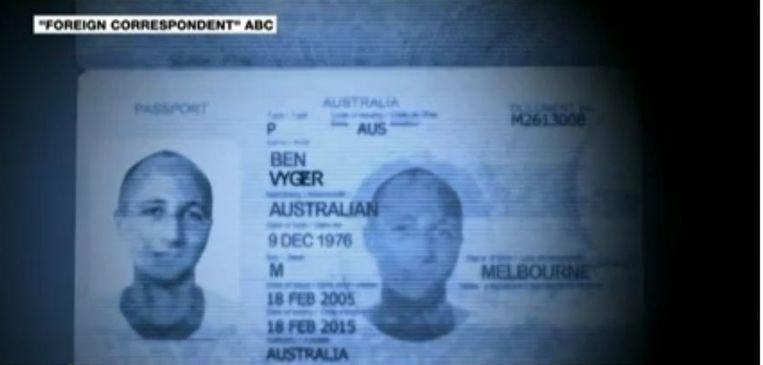 Paspoort van Ben Zygier Beeld Still ABC