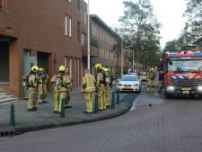 Fiets in berging van appartementencomplex in brand