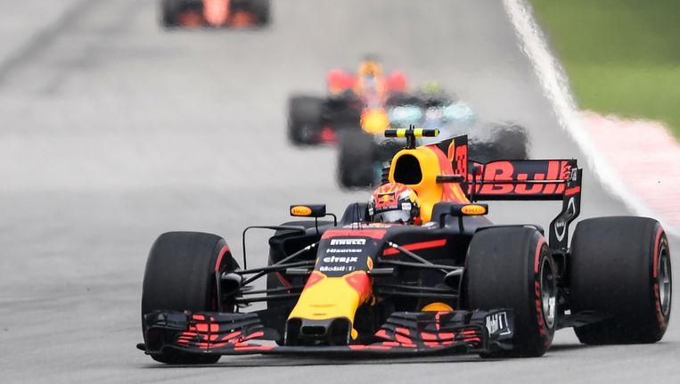 Max Verstappen tijdens de Formule 1 in Sepang Beeld null