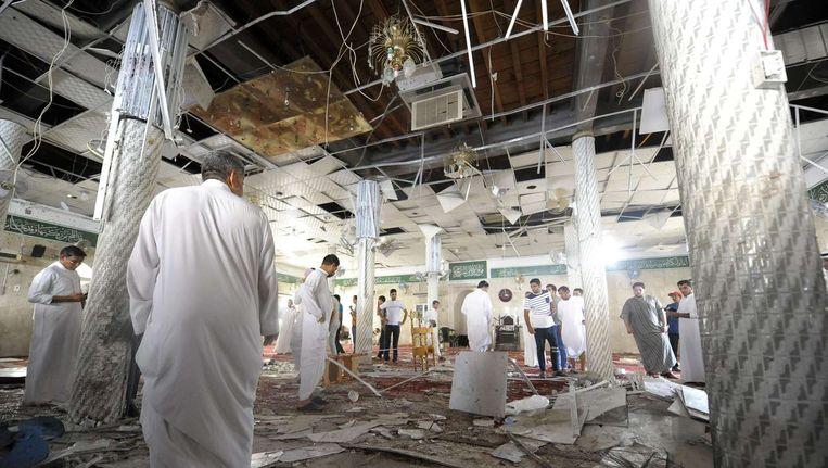 De getroffen Moskee in Qatif Beeld afp
