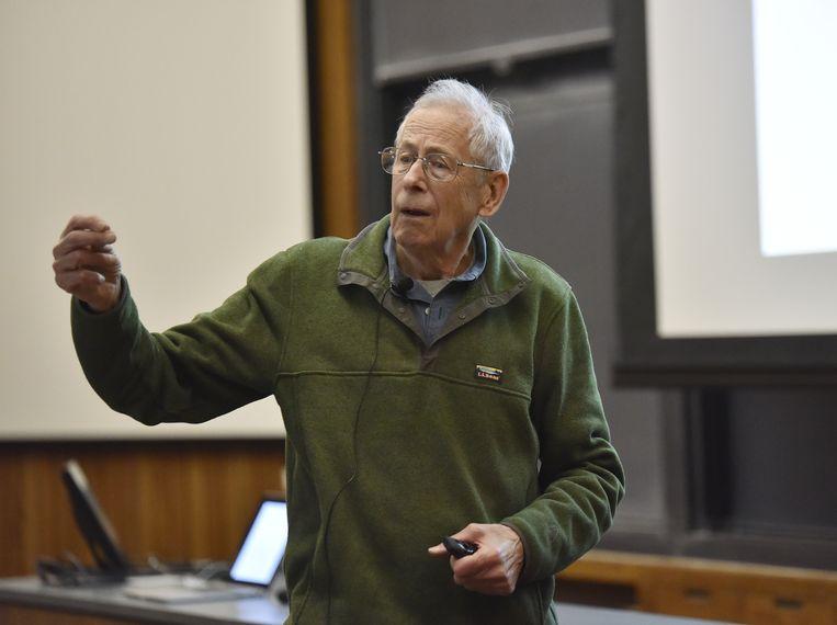 James Peebles onderzocht de evolutie van het universum en kreeg de andere helft van de natuurkunde-Nobelprijs. Beeld AFP