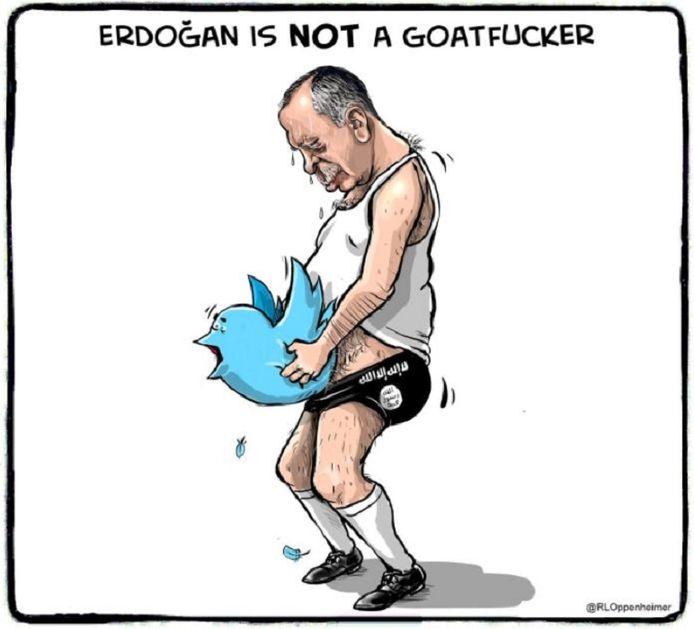 De gewraakte spotprent van politiek cartoonist Ruben L. Oppenheimer.