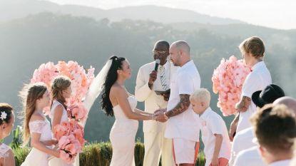 Unieke familiekiekjes: Justin Bieber getuige op vader's huwelijk