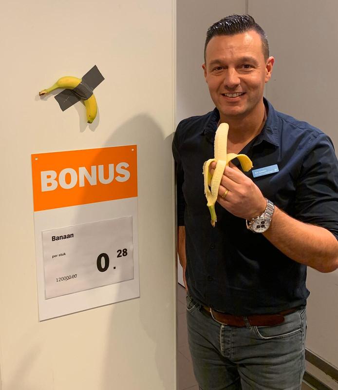 Banaan in de bonus bij de Albert Heijn in Den Bosch van 120.000 euro voor 0,28 euro.