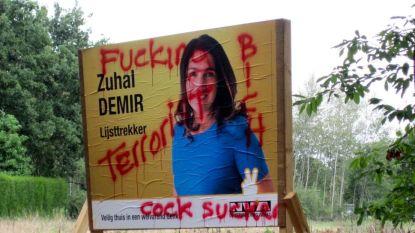 Verkiezingsaffiches Zuhal Demir besmeurd met hakenkruisen, 'PKK' en 'Terrorist'