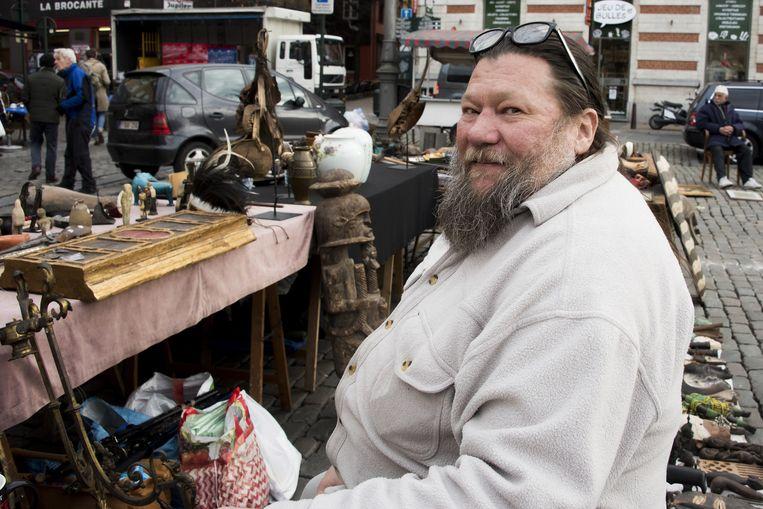 parking onder Vossenplein: marktkramer die al 30 jaar op de markt staat TEKST Amaury