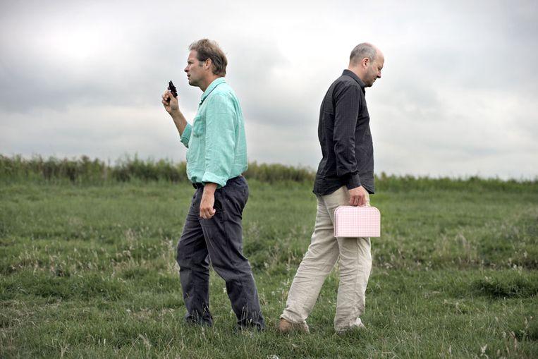 Erik van Muiswinkel en Diederik van Vleuten. (Joost van den Broek / de Volkskrant) Beeld