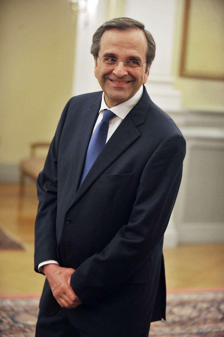 Antonis Samaras van de Nieuwe Democratie. Beeld null