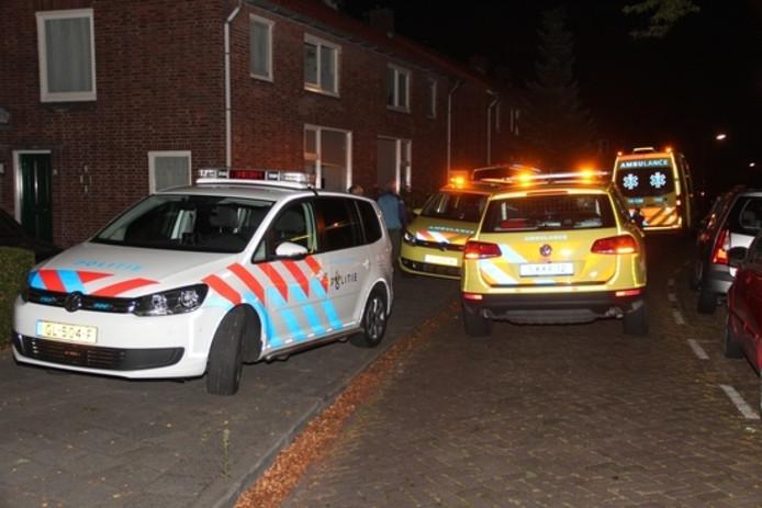 De politie en ambulances kwamen ter plaatse.